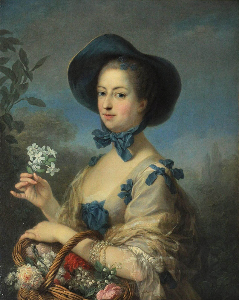 女庭師姿のポンパドゥール夫人