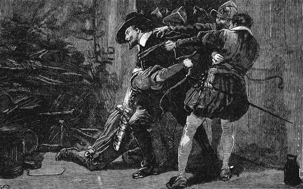 逮捕されるガイ・フォークス/イギリスの歴史 人物