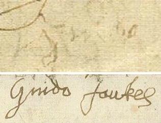 ガイ・フォークスのサイン