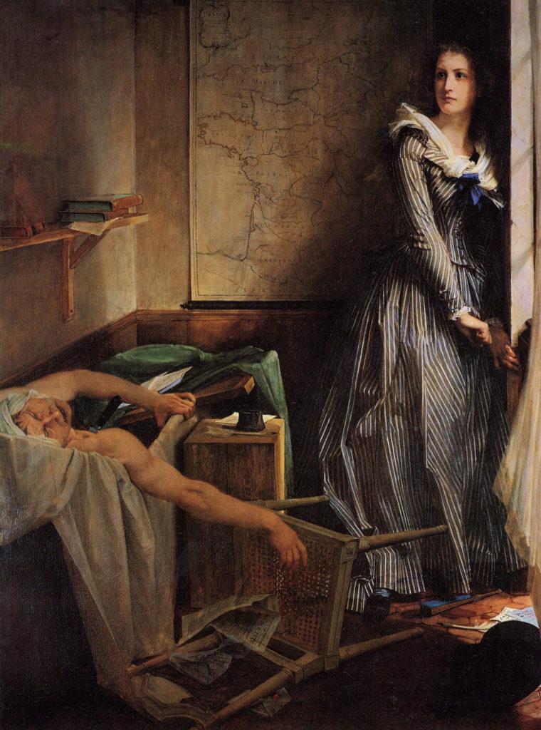 マラーの暗殺 シャルロット・コルデ フランス革命